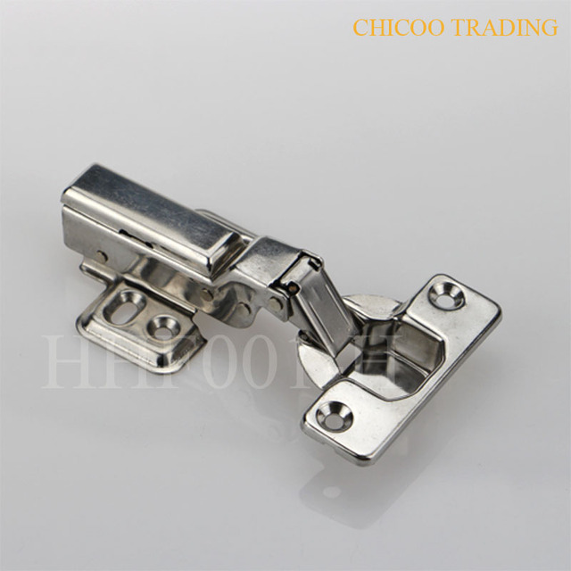 Us 7 99 Half Overlay Stainless Steel 304 Furniture Concealed Hydraulic Kitchen Cabinet Hinges Two Way Hinge In Cabinet Hinges From Home Improvement