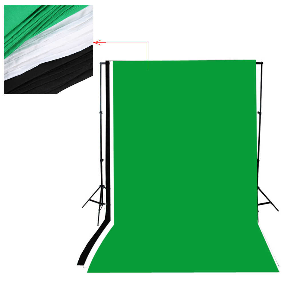 Andoer Photography Softbox Lighting Kit with Photo Studio Background Stand  Black White Green Screen Backdrop 125W Light Bulbs