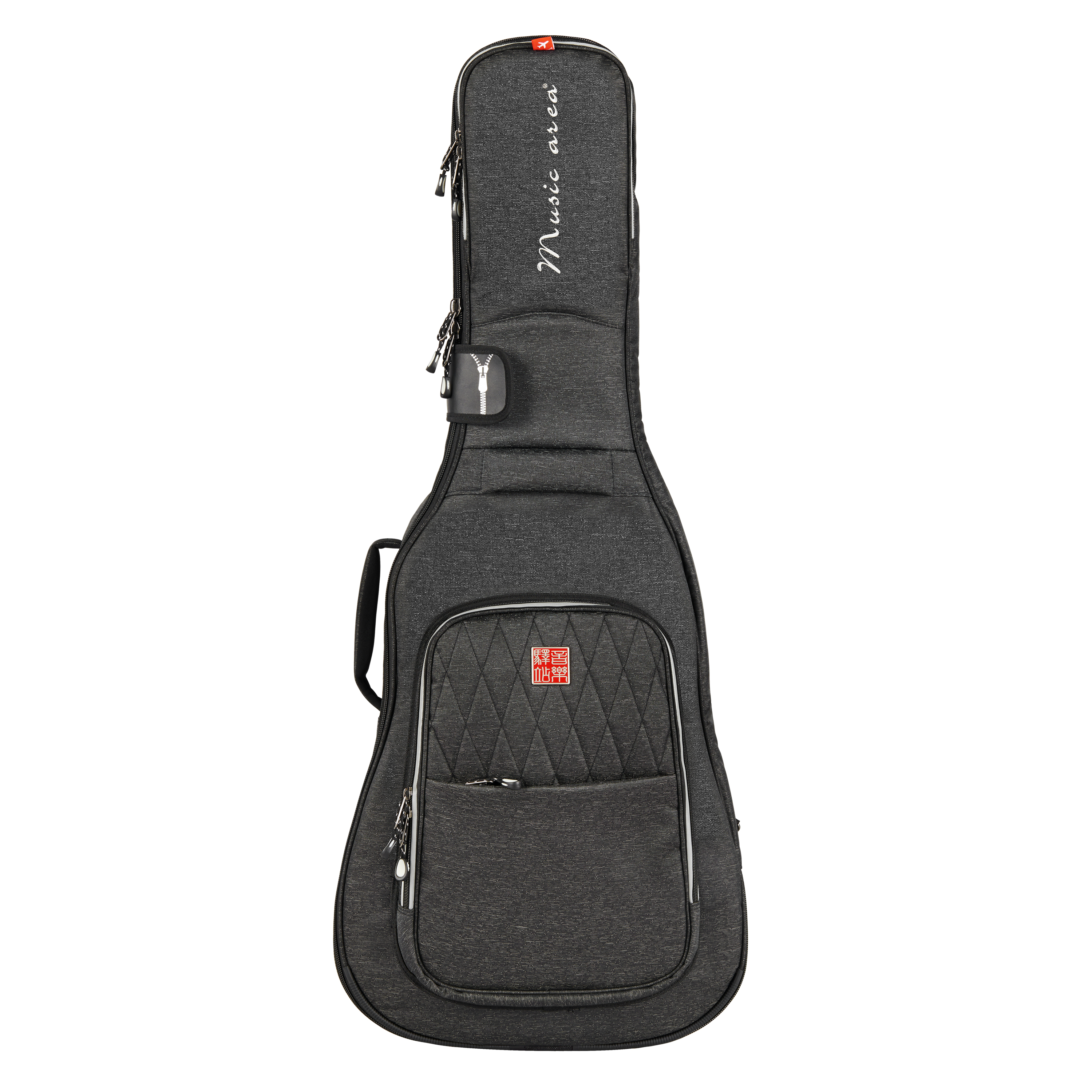 Music Area High-end Classic Guitar Gig Bag Waterproof 30mm Cushion 900D Polyester Black Soft Gitar Case TANG30 12mm waterproof soprano concert ukulele bag case backpack 23 24 26 inch ukelele beige mini guitar accessories gig pu leather
