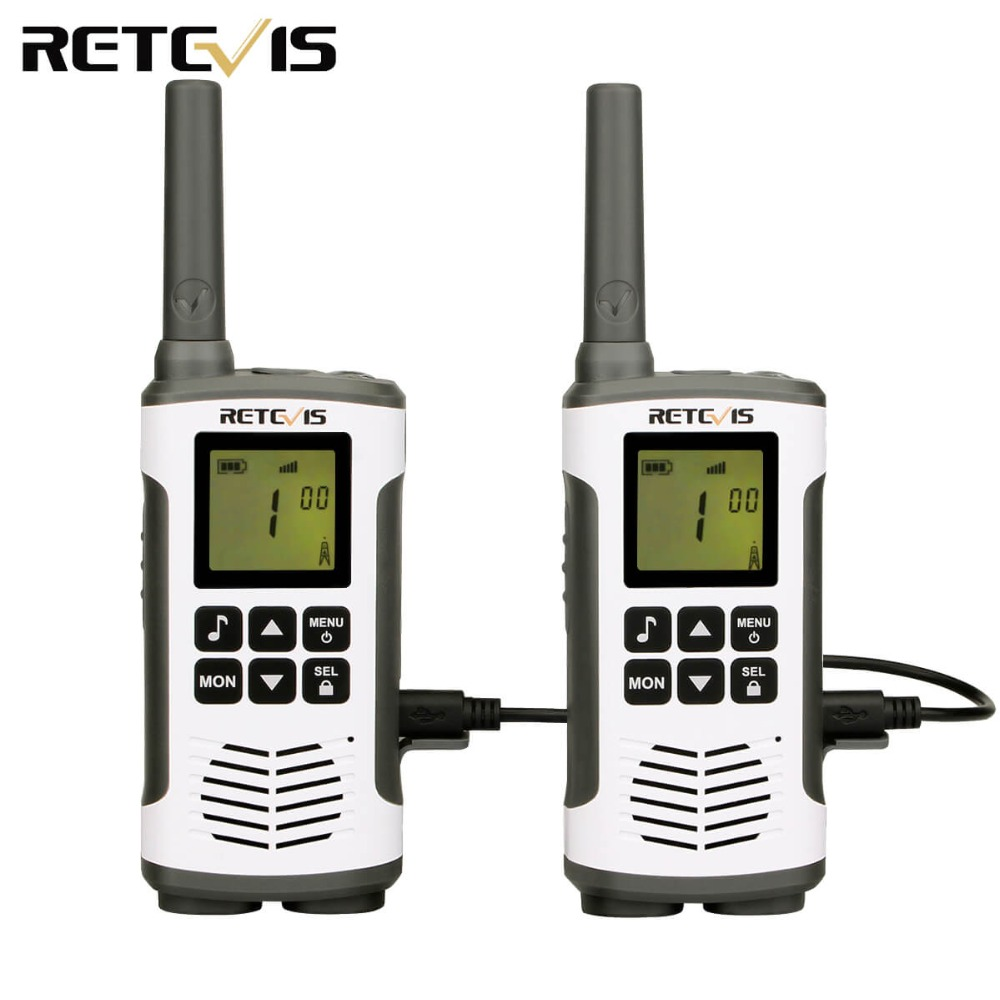 A Pair Retevis Rt46 Walkie Talkie 2w Portable Two Way Radio Transceiver Vox Micro-usb Charging Support Li-ion or Aa Battery
