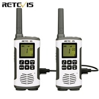 2pcs Retevis RT45 Walkie Talkie licence free 0.5W PMR 446MHz or FRS Outdoor Radio VOX Hf Transceiver Rechargeable Battery