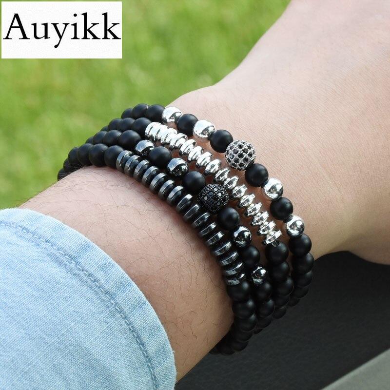 Auyikk Couple Bracelet CZ ball Charms Bracelet Men Jewelry Bracelets & Bangles Love Pulseira Masculina For Women 2pcs/set