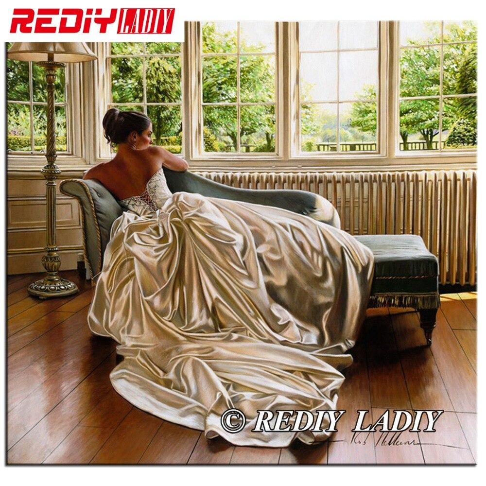 Алмазная вышивка rediy ladiy, мозаичная картина для невесты, девушек, полная квадратная дрель, алмазная картина 5D, стразы, декор для стен