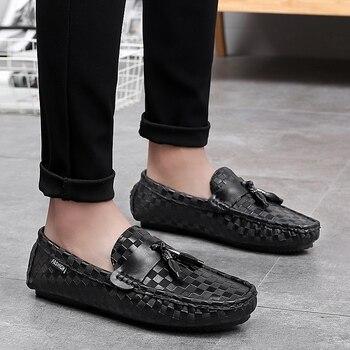 Conducir Mocasines Para Hombre   ALCUBIEREE Mocasines Casuales Para Hombre Mocasines Con Borla Zapatos De Barco En Relieve Para Hombre Zapatos Con Conducción Transpirable Calzado Para Hombres