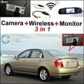 3 in1 Special Rear View Camera + Wireless Receiver + Mirror Monitor Easy Parking System For KIA Cerato Sephia Sephia5 LD Sedan