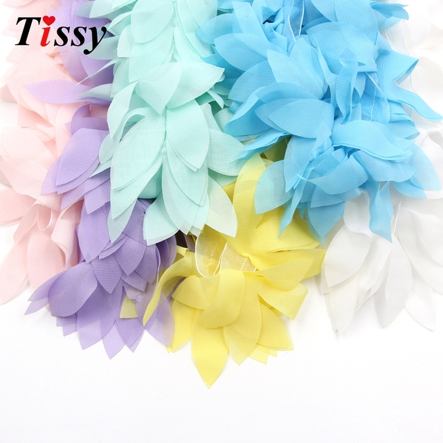 1yard lace flower chiffon flowers