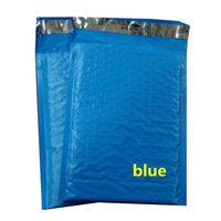 18.5x23 + 4 cm En Plastique Poly Bubble Mailer Postale matelassée Sacs/Bleu Couleur PE Bateau Pack Antichoc Sachets de messagerie Enveloppe À Bulles