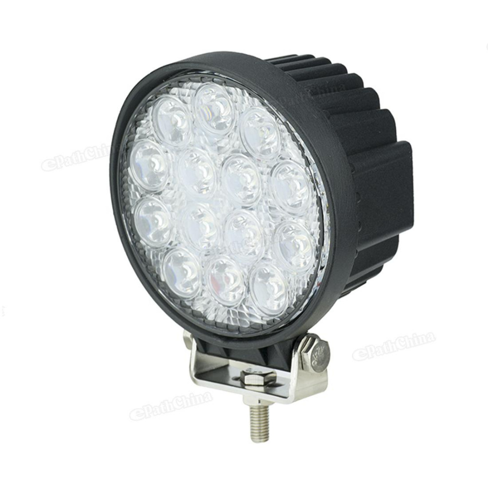 New 42W 14x LEDs Work Light Car / Truck / 4WD Offroad / SUV / ATV Lamp DC 10-30V Suitable for  Car, motorcycle, fire engine etc 2pcs truck light 4 leds lamp