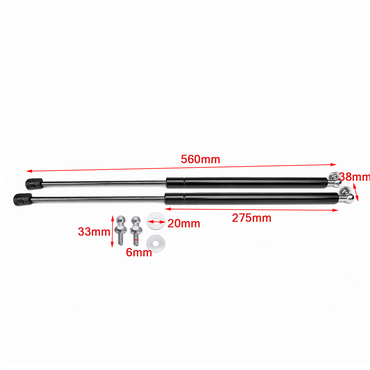 Image 3 - 2Pcs Car Gas Shock Hood Shock Strut Damper Lift Support for Skoda Octavia A7 MK3 Stainless Steel Hydraulic Rod Car Accessories-in Strut Bars from Automobiles & Motorcycles