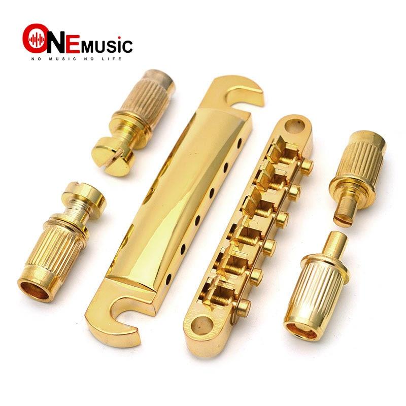 Gold Guitar Bridge Locking Tune-O-Matic TOM Bridge And Tailpiece Set For LP Electric Guitar