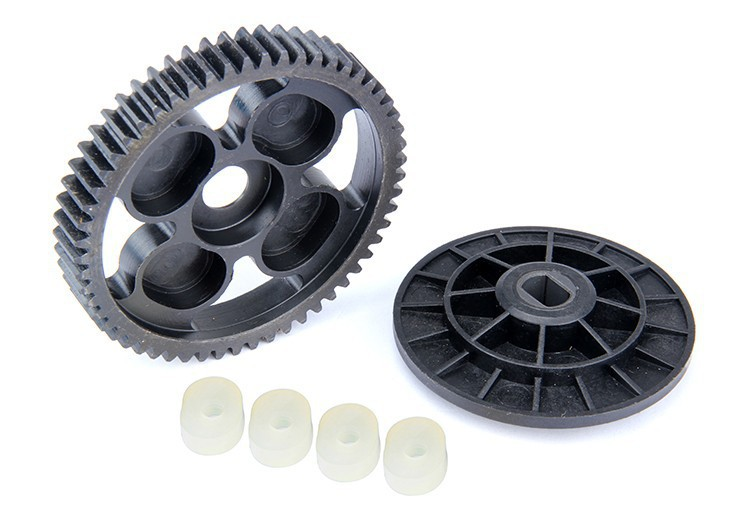 RC racing Baja upgrated parts, metal 57T Spur Gear for 1:5 Baja 5B, 5T, 5SC baja 95175 57t metal gear assembly 5b 5t 5sc hpi km rovan baja 5b 5t sc ss 30 5cc truck buggy steel spur gear 57t 17t set