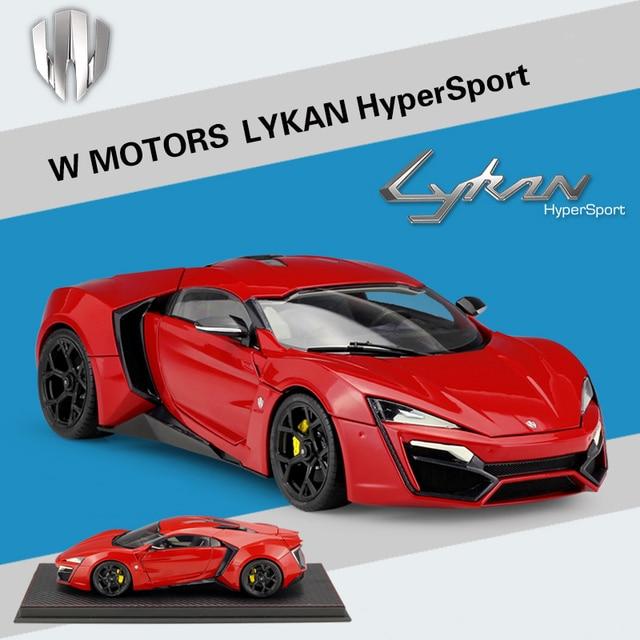 1/18 LYKAN HyperSport Fast & Furious 7 Autocraft W MOTORS Diecast Car Model Red Original Box Free Shipping