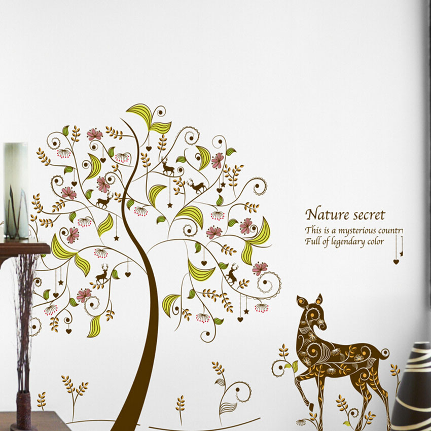 174 colorful tree wall stickers for kids kids rooms home kids room check this collection of cheap wall stickers