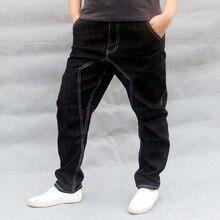 Men Hip Hop Harem Jeans Black Loose Baggy Cotton Denim Pants Male Joggers Trousers Big Size S-4XL
