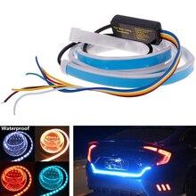 Промо-акция! 1,2 м, 12 В, автомобильный, четыре цвета, тип потока, 36 светодиодный, для багажника автомобиля, водонепроницаемый, тормозной, для вождения, сигнальный светильник