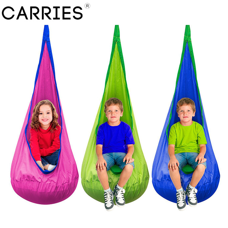 ARRIES Baby Children Indoor Pod Swing Hammock Hanging Bed Garden Furniture Kids Hanging Chair Camping garden swing for children baby inflatable hammock hanging swing chair kids indoor outdoor pod swing seat sets c036 free shipping