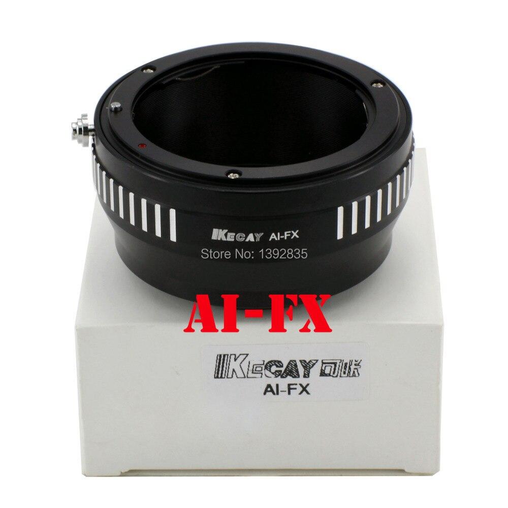 Kecay Monture Adapter Ring AI-FX pour AI objectif et pour fuji FX X X-Pro1 E1 XPro1 mirrorless caméra Nouveau-Noir + Argent