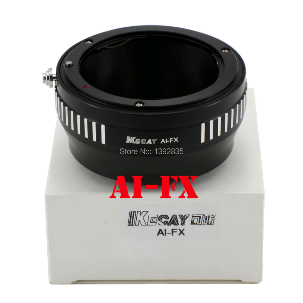 Kecay Adaptadores para objetivos anillo de montaje Ai-FX para la lente de AI para Fuji FX x x-pro1 E1 xpro1 cámara sin espejo nuevo-negro + plata