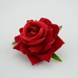 Rosa Artificial Flores 1 pçs/lote 6 centímetros Barato Para O Carro Do Casamento Decorativo Ofício Scrapbooking Flores do casamento de Rosa flor simulação