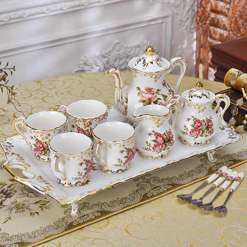 Yolife British Royal Ceramic Bone Of China Coffee Sets