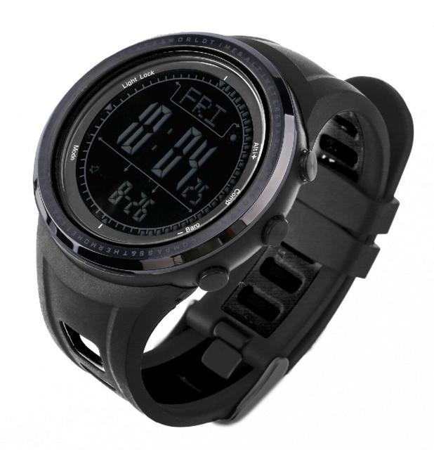 Sunroad Sports Alimeter Waterproof Wrist Watch  Barometer  Compass Pedometer Men's Watch Clock
