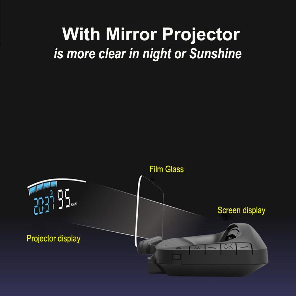 EANOP Новое поступление зеркало 04 автомобилей HUD Дисплей скорость проектор охранной сигнализации температура воды над скорость об