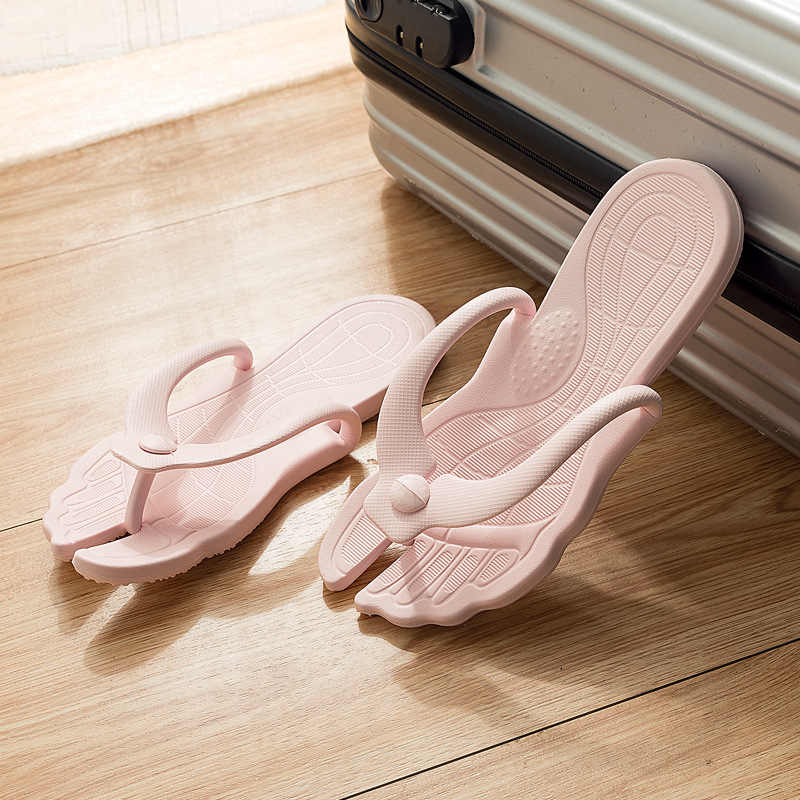 flip flops shoes women Slippers cute Summer Folding Sandals Couples Comfortable Travel slides women love myun zapatos mujer