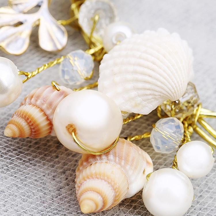 αστερίες μαργαριτάρι κόγχη κοχύλια - Κοσμήματα μόδας - Φωτογραφία 5