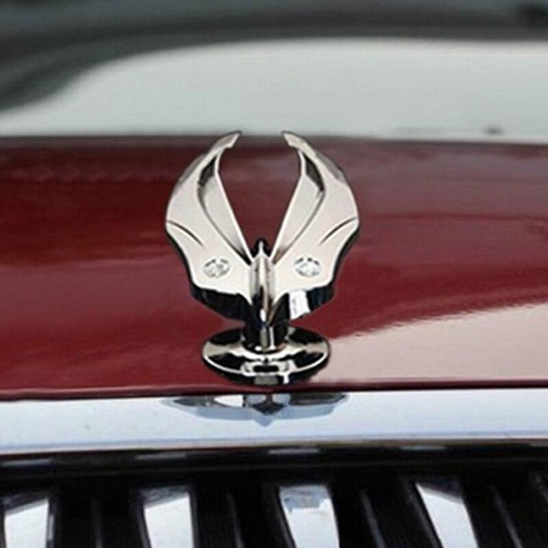 Car Auto Accessories Eagle Stand Mark Car Chrome Logo Hood Ornaments Badge Emblem For All The Car