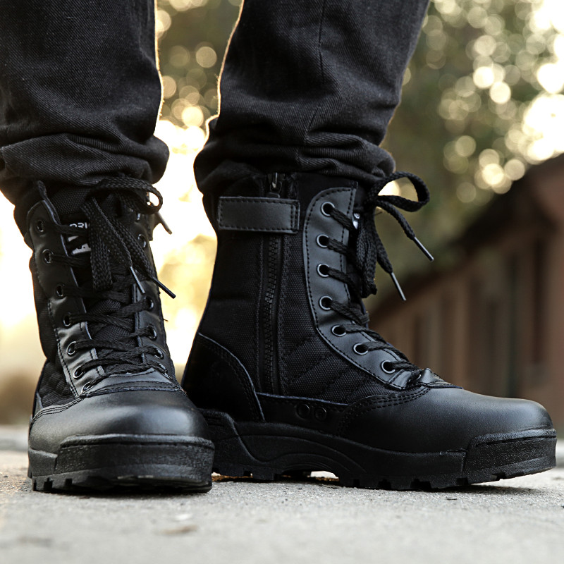 Popular Black Military Shoes-Buy Cheap Black Military Shoes lots ...