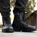 2017 nuevo estilo de Botas de Combate Retros Invierno-estilo de Inglaterra hombres de Moda Short Negro Zapatos Botas Militares