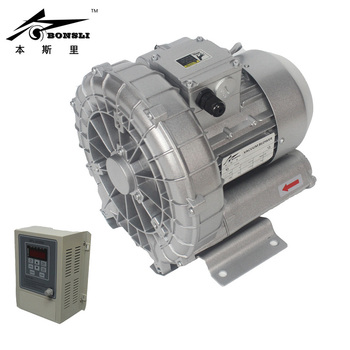 цена на 370 Watt 3phase vortex pump vacuum pump small high-pressure industrial Side Channel Blower with VFD stepless RPM control