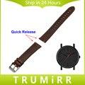20mm 22mm correa de reloj de cuero genuino correa de liberación rápida para timex expedition weekender classic hombres mujeres pulsera de la muñeca marrón