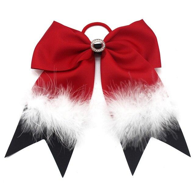 Adogirl Feather Hair Bow Snow Flower Hairbands Cheerleading Hair Bows  Newborn Headwear Kids Hair Accessories Scrunchie c295ddec31b