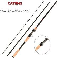 FX Ultra Light Fishing Rod Travel 3-Section Lure Rod Bait Spinning Casting Fishing Rod 1.8m 2.1m 2.4m 2.7m 5g-40g M/ML/MH спиннинг cottus viper spin mh 15 40g