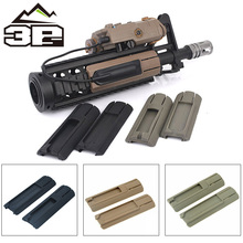 3P 4pc/pack Tactical Airsoft 4.125 ITI TD Scar Pocket Panel Remote Switch Rail Pads Set Light Fits 20mm Rails PEQ Accessory