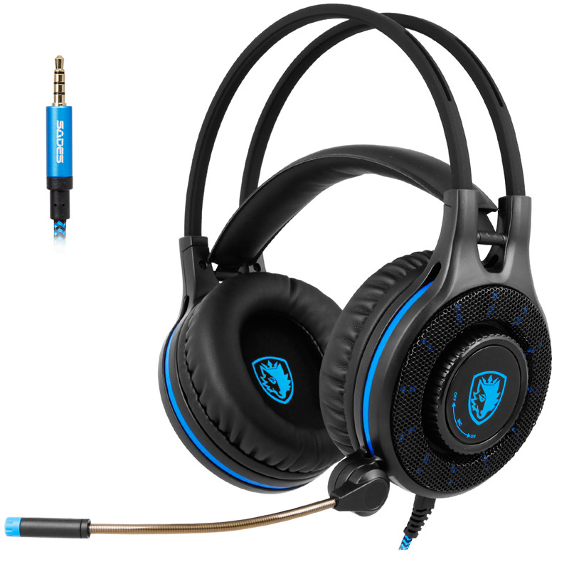 SADES SA-936 Gaming Headset Wired PC Stereo Earphones Headphones for PS4 Xbox One with Microphone for computer Gamer headphone