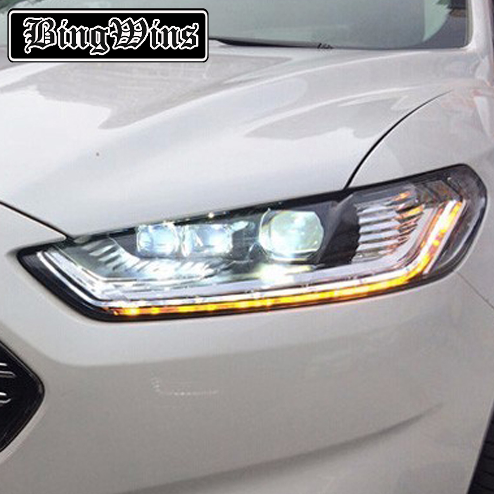 Car Styling For Ford Fusion 2013-2015 LED Headlight for Fusion Head Lamp LED Daytime Running Light LED DRL Bi-Xenon HID high quality car styling head lamp case for vw tiguan 2013 led headlight drl daytime running light bi xenon hid accessories