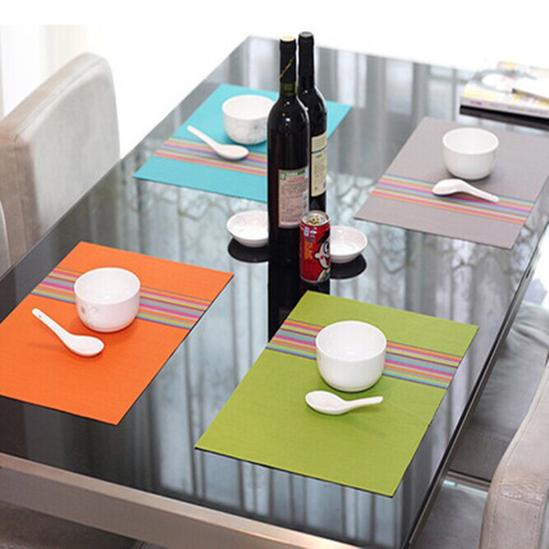 Y137 Pvc Placemat Dining Table Mats Set De Table Bowl Pad Napkin Dining  Table Tray Mat