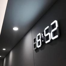 2018 New Modern Wall Clock Digital 3D LED Table Watches 12/24 Hours Display mechanism Alarm Snooze Desk