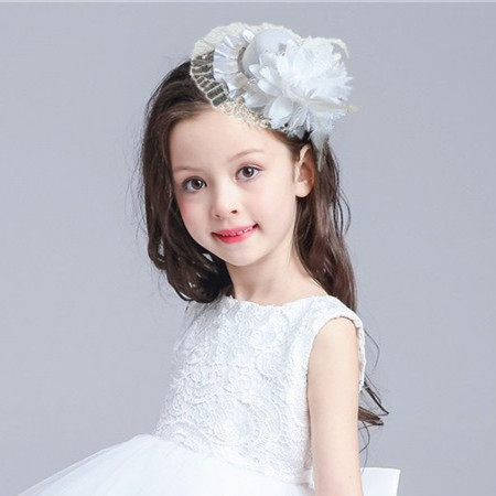 Child small hat hair accessory female child princess hair accessory Wedding bride hair accessory