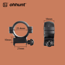 ohhunt 1 Pair Tactical Scope Mount Rings 1 Inch 21mm Picatinny Weaver Rail Base Level Medium Ring Fits for Hunting Rifllescope(China)