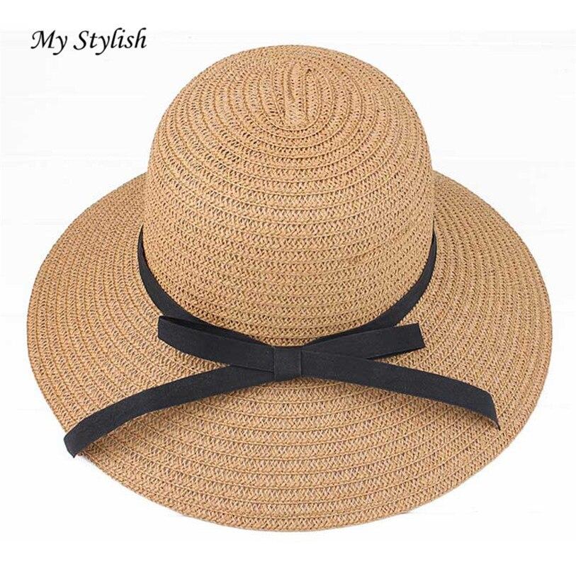 2018 Summer Hat Ladies Women's Fedora Beach Sun Hats Floppy Wide Large Brim Cloche Bowler Pure Woolen Capat High Quality Dec 27