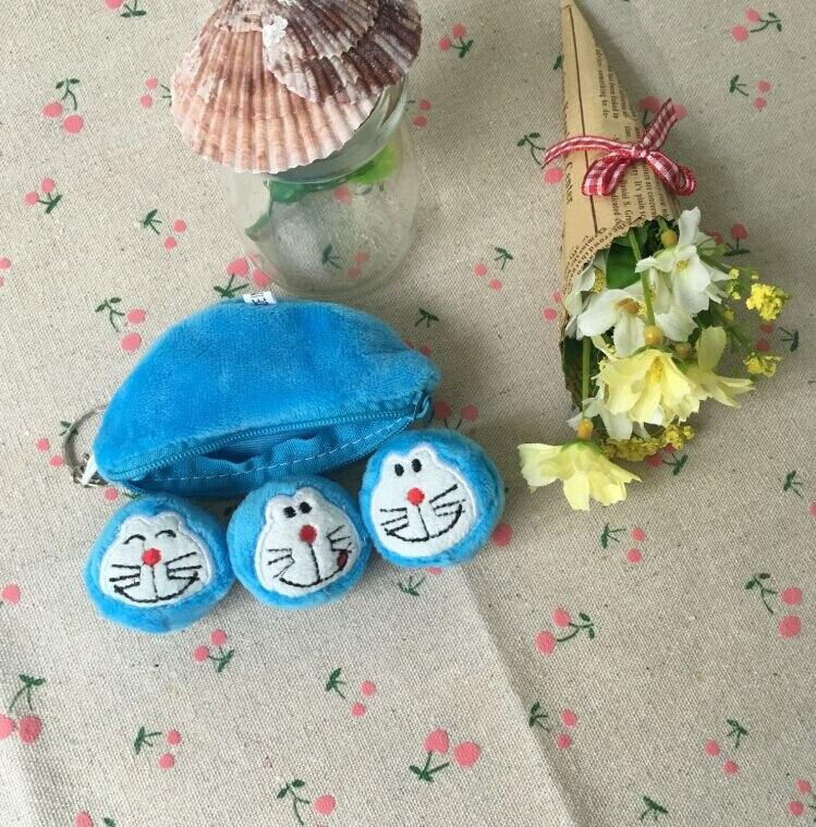 Kawaii 20PCS/LOT Doraemon 10CM Blue Pea Beans Plush Stuffed Toy , Key Ring chain Pendant TOY , Kid's Party Small Plush Toys