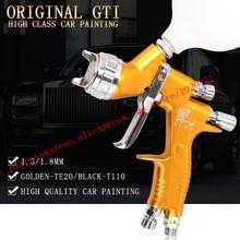 Профессиональный распылитель краски lvmp, пистолет распылитель GTI с золотой краской, пистолет на водной основе для автомобилей, инструменты для покраски автомобилей