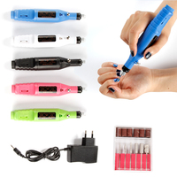 Power Electric Nail Art Polish Machine Nail Drill Bit Dull Polish Set Manicure Cuticle Acrylic Gel