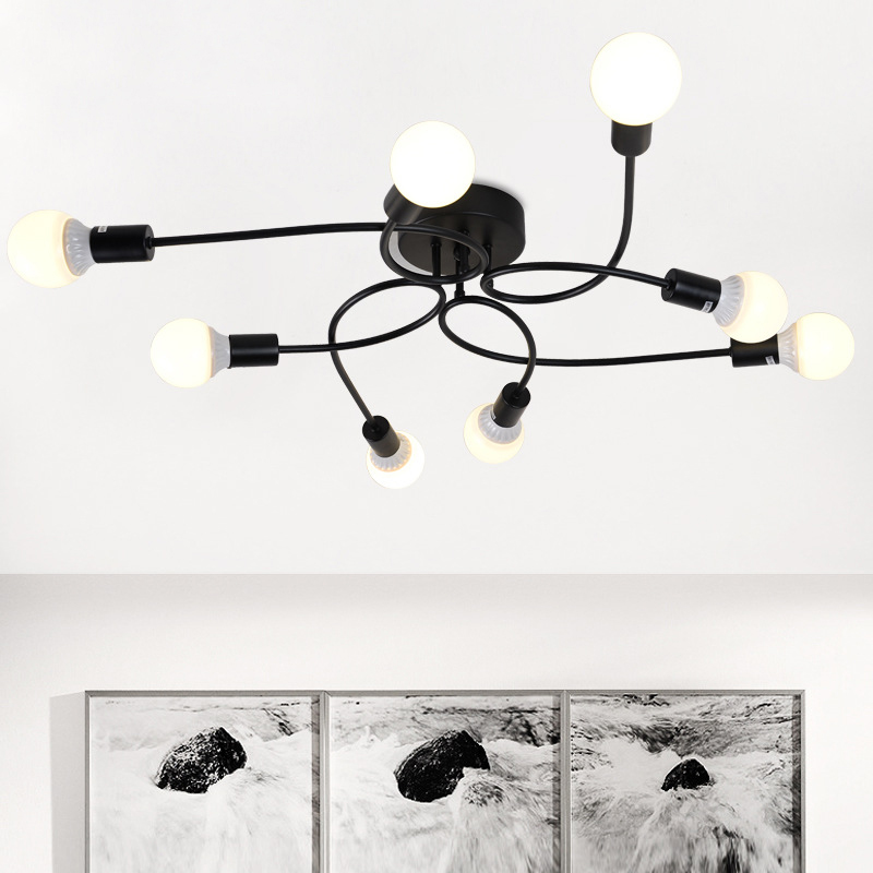 SINFULL ART Nordic Study Room Ceiling Light Creative Individuality Iron Ceiling Lamps Industrial Lighting retro Clothing lamp ...