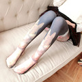 Retro Printed Rabbit Thin Velvet Stockings Women Harajuku spring and autumn color pantyhose warm tights