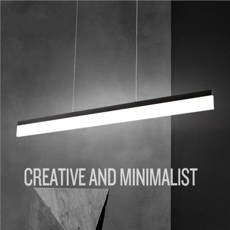 Moderne Minimalistische LED Pendelleuchten Bar Für Küche Esstisch Hängen  Lampe Licht Led Lampe Leuchte Schwarz