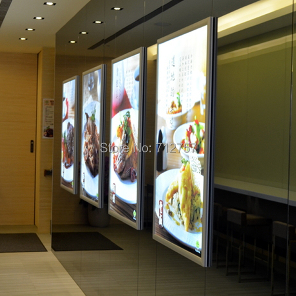 Take Away Backlit Light Box Display Lightbox Restaurant Menu Board Sign